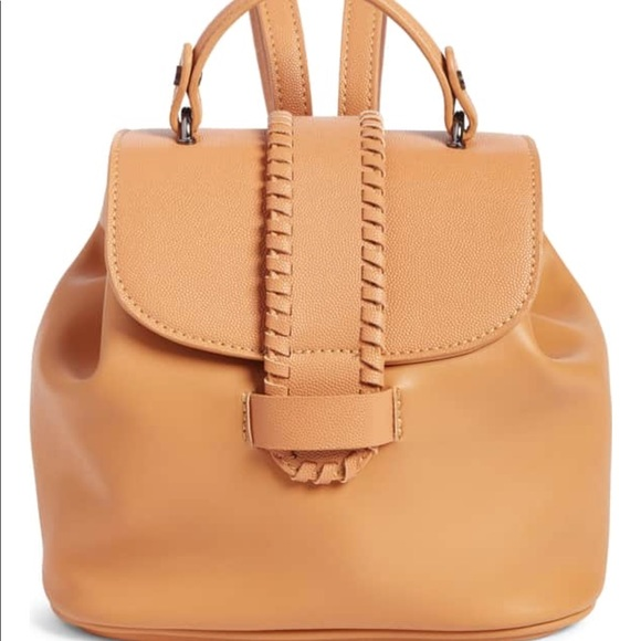 Nordstrom Handbags - Whip stitch faux leather backpack